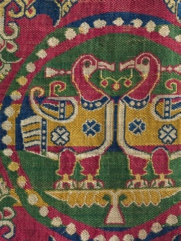 Silk; Samit weave. Iran or Central Asia, Sogdiana, 8th century.   © 2014 The Cleveland Museum of Art. All rights reserved. (http://www.clevelandart.org/art/1996.2.1)